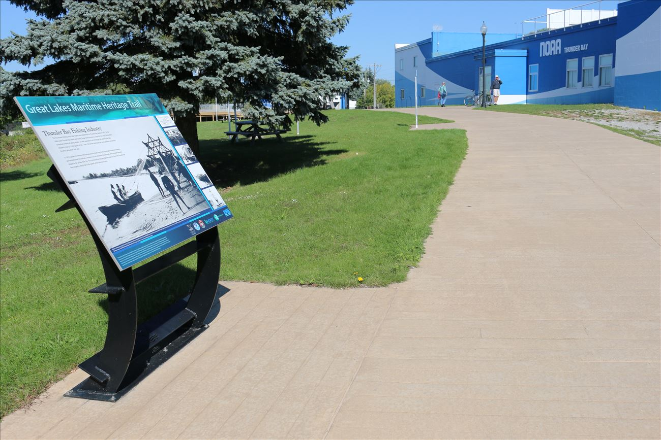 Fisheries history interpreted along the Great Lakes Maritime Heritage Trail