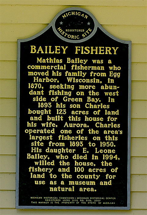 Bailey Fishery Historical Marker